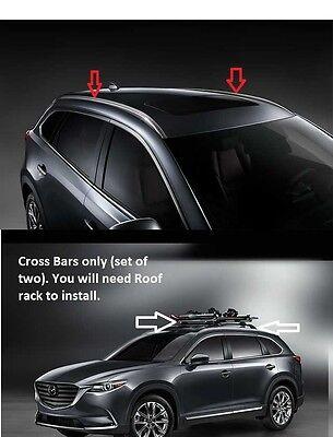 2016-2020 Mazda CX-9 Roof Rack Rails and Crossbars 00008LN10B 00008LN11