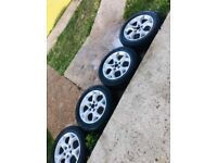 4 x alloy astra sxi wheels and tyres