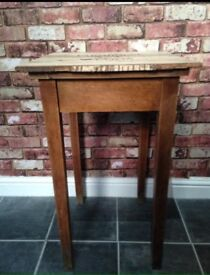 Tall table with reclaimed wood top