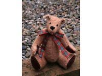 Theodore traditional OOAK artist bear 1 of 1. Shipping available