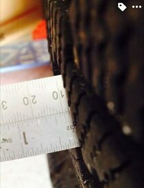 215/60R16 all weather (M&S) tyres on rims