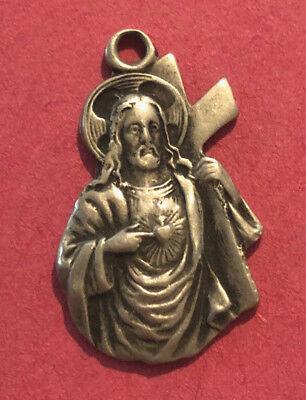 Antique Catholic Religious Medal   May Your Kingdom Come   Adveniat Regnum Tuum