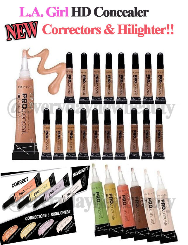 *Pick Any 6* Authentic L.A. LA Girl HD Pro Concealer, Corrector & Highlighter
