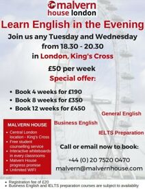 Learn English in the evening !Join us any Tuesday