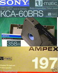 100 U-MATIC RECORDER SONY UMATIC BÄNDER TAPE BAND KCA KCS BRS PROF BROADCASTING