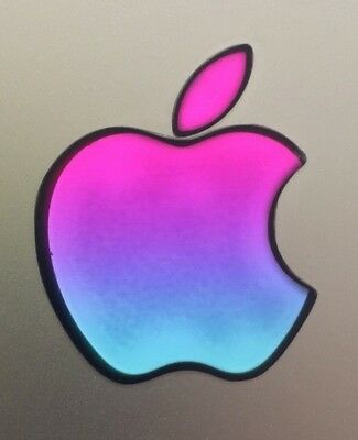 GLOWING MAGENTA/VIOLET/TURQUOISE Apple MacBook Pro Air Sticker Mac Laptop DECAL for sale  Shipping to India