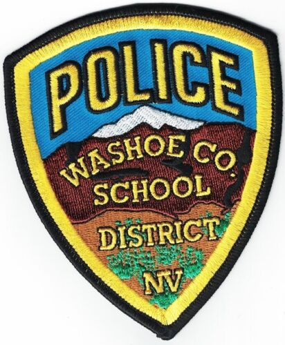 Washoe County School District Nevada NV Police patch
