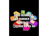 GOLD VIP MOBILE NUMBERS £125