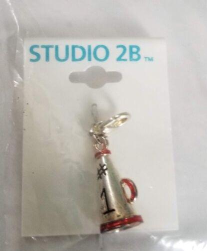 Girl Scout Studio 2B Charm NEW ~ Silver Leadership  ~ Cheerleader Megaphone