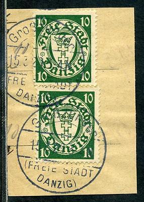 Danzig  Briefstück  Grosszünder
