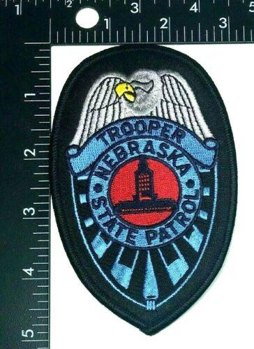 TROOPER NEBRASKA STATE PATROL BADGE SHIELD PATCH (PD-5) UNUSED