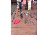 Job lot of golf clubs