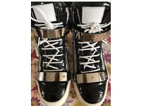 Giuseppe Zanotti Patent Croc High Top Sneakers Excellent Condition