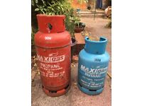 Propane and Butane gas cylinders for sale