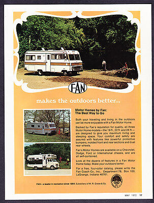 1972 Fan 19 ft 22 ft. 26 ft. Motor Homes photo