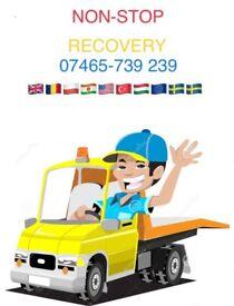 24/7 Recovery truck breakdown transport SV London