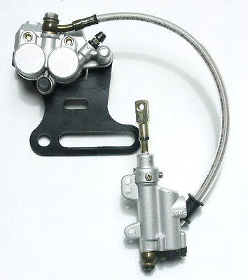 Rear Disc Brake Assembly Caliper Cylinder Dirt Pit Bike Atv Gokart 110cc 125cc
