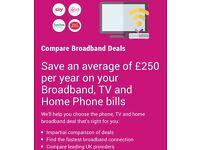 TV, Fixed Line & Broadband Deals with Sky, Virgin and TalkTalk