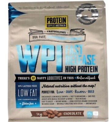 Protein Supplies Australia WPI Whey Protein Isolate | Chocolate | 1kg | Fitness - Wpi-whey Protein