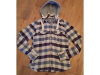 Men's Superdry Check Shirt with a Hood Size L