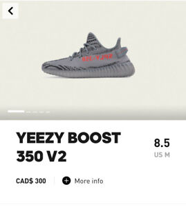Yeezy Boost 350 V2 adidas confirmed App size 8.5 $600