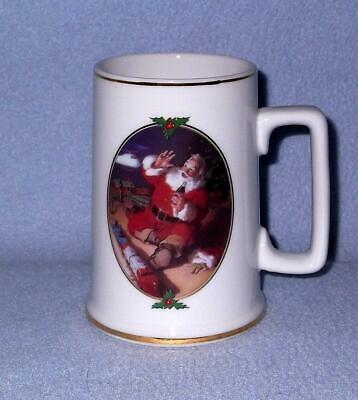"Coca Cola Santa ""Seasons Greetings"" Mug Stein 1996 Helicopter Train Set"