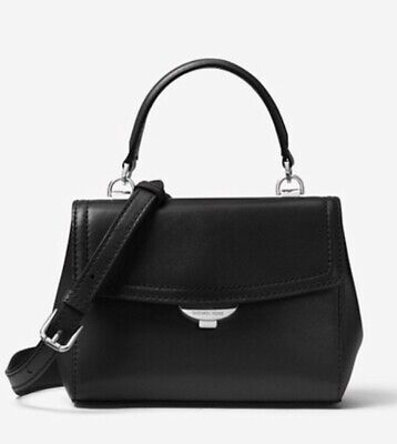 Michael Kors Ava Small Black LEATHER  Bag NEW Genuine, Includes Receipt & Tags