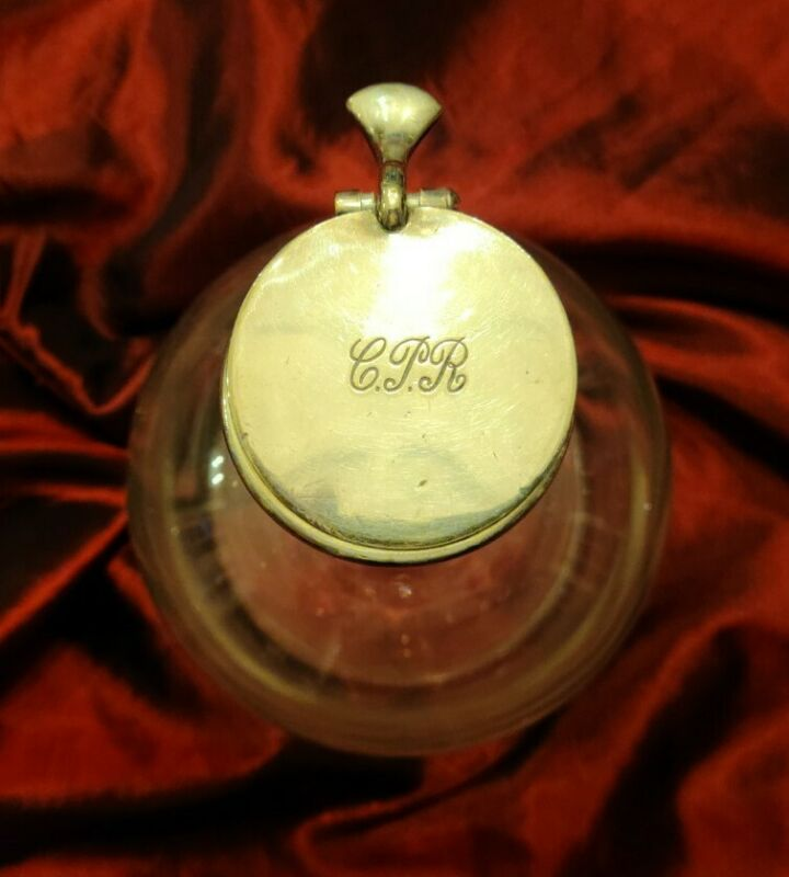"""RARE Canadian Pacific Railway CPR Passenger Car Silver & Glass 9"""" Wine Decanter"""