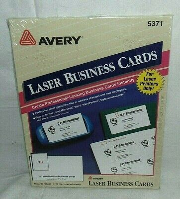 Avery Laser Business Cards 5371 250 Cards