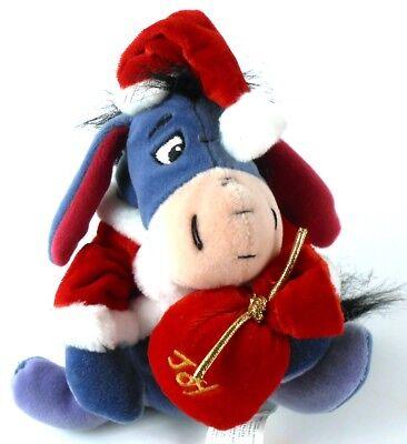 Disney SANTA EEYORE Christmas JOY Beanbag Stuffed Animal Plush Pooh's Friends