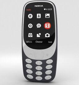 New Unlocked NOKIA 3310 Black Keypad Phone DUAL SIM