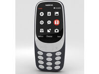 New Unlocked NOKIA 3310 Black Keypad Phone DUAL SIM