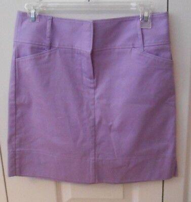 NWOT ANN TAYLOR LOFT Purple Pencil Skirt Above Knee Size 0