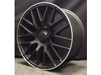 """4 NEW 19"""" ALLOYS WHEELS + TYRES MERCEDES STYLING C63 C E A S B CLASS AMG SPORT PLUS"""