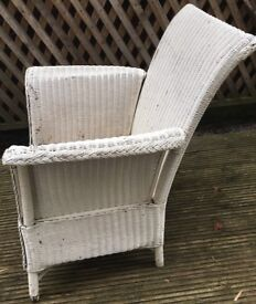 LLoyd Loom Style Chair - ideal for refurb or Shabby Chic update