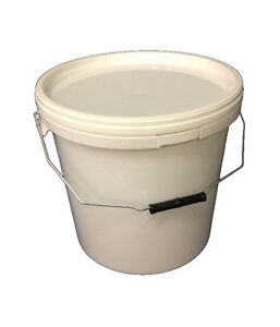 NEW 1 x 15 Litre Plastic Bucket with Lid (GARDEN,FERMENTING,RUBBLE,AQUATICS)