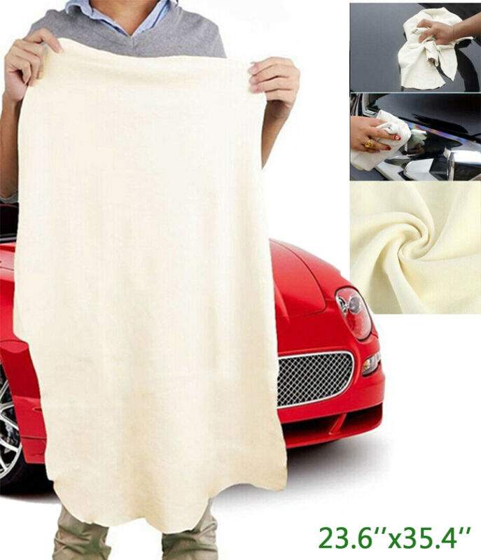 Natural Chamois Leather Car Drying Towel Shammy Cleaning Cloth Absorbent 60*90cm