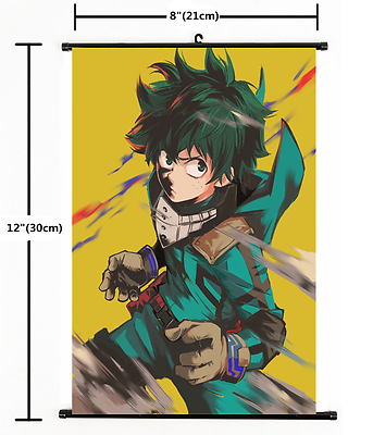 Anime My Boku No Hero Academia Wall Scroll Hanging Poster Fans Cosplay # okgo