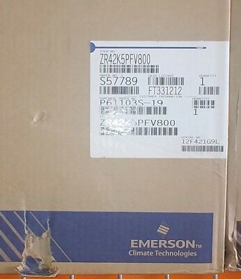 Emerson Copeland Scroll Ac Compressor 208-230v 1 Ph 60 Hz Zr42k5e-pfv-800