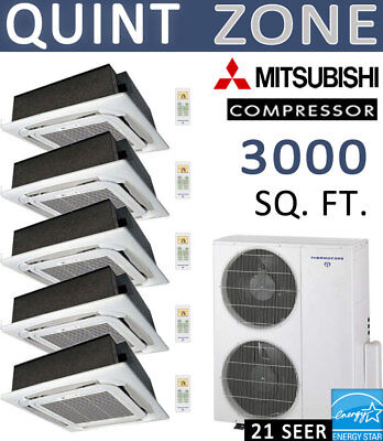 60k BTU Ductless Mini Split Air Condition Heat Pump 12kx5 CEILING CAS/No lineset