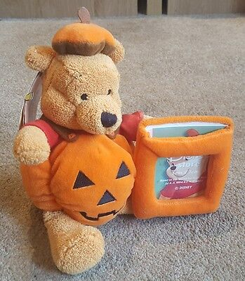 Disney Store Halloween Pooh Plush Soft Toy Picture Frame-New-5×7cm-Great gift