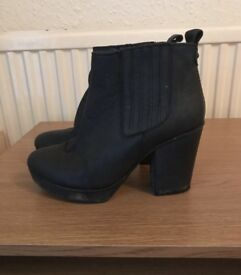 TopShop black heeled boots
