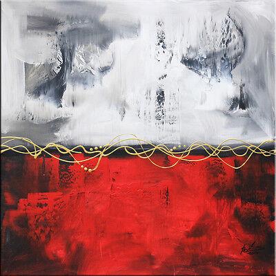 BRATIS ART ORIGINAL Abstrakt Malerei Kunst Gemälde Bild Leinwand XXL Acryl 110H