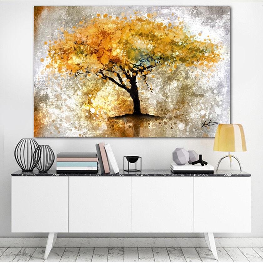 Abstrakte Baum Natur Deko Bilder auf Leinwand Wandbild Kunstdruck Modern 1361A