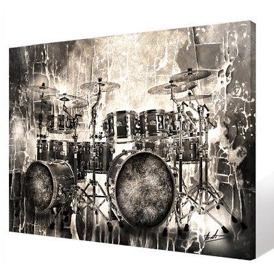 Schlagzeug Musik Musikinstrumente Wandbilder Bilder auf Leinwand Abstrakt  2040A ()