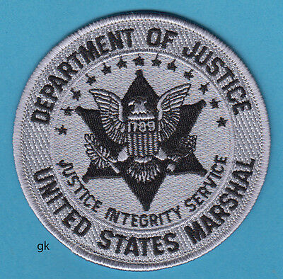 US MARSHAL DEPARTMENT OF JUSTICE SHOULDER PATCH (Subdued -gray)
