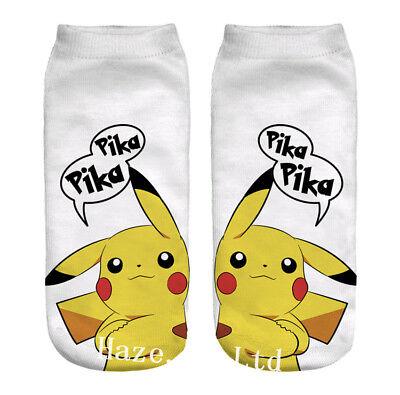 Pokemon Go Pikachu Character Sock Pocket Monsters Women Kid Socks