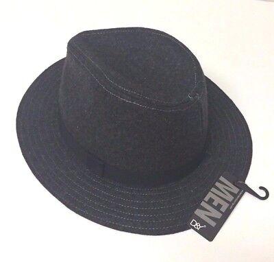 Cuban Hat (New Mens Fedora Hat Trilby Cuban Cap Short Brim Panama Size Fits M / L Gray)