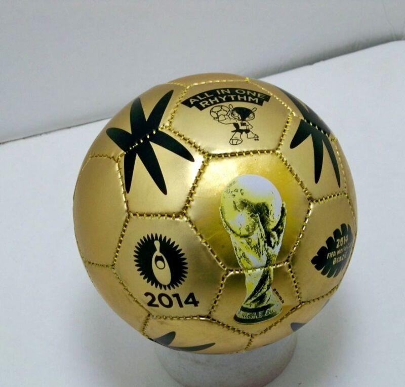 FIFA 2014 Brazil world cup gold MINI soccer ball size 2 sz international futbol
