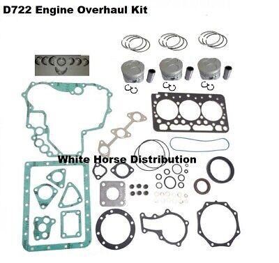 New Kubota Bx1860 Engine Overhaul Kit Std